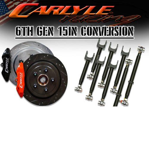 """Carlyle Racing Chevrolet Camaro 2016+ 15"""" Pro Brake kit"""