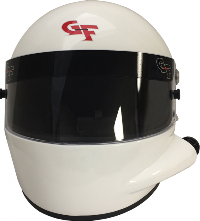 GForce GF7 SIDE AIR FULL FACE WHITE HELMET