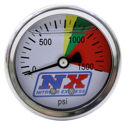 15508 NITROUS PRESSURE GAUGE ONLY (0-1500 PSI)